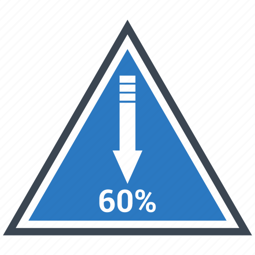 arrow, down, finance, planing, pyramid, retirement icon
