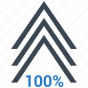 arrow, chart, growth, increase icon