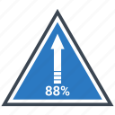 arrow, finance, planing, pyramid, retirement, up icon