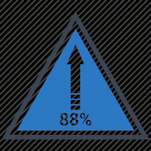 arrow, finance, planing, pyramid, retirement, up icon