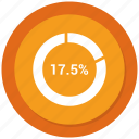 graph, pie, pie chart, statistics icon