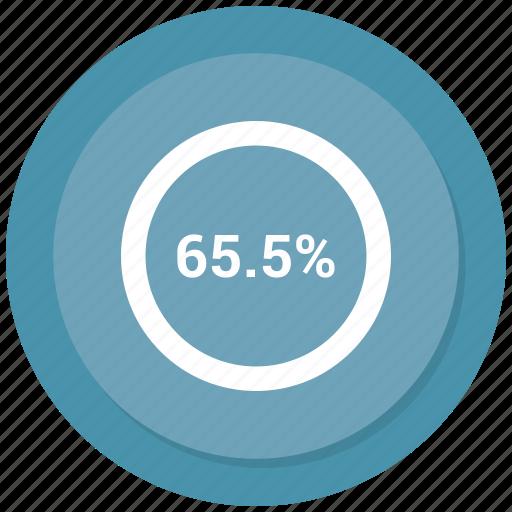 five, percent, percentage, sixty icon