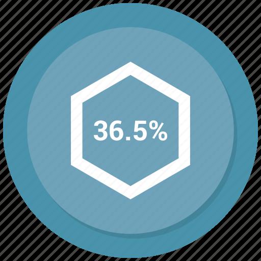 chart, graph, percent, percentage, pie, six icon