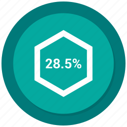chart, diagram, eight, graph, percent, percentage icon