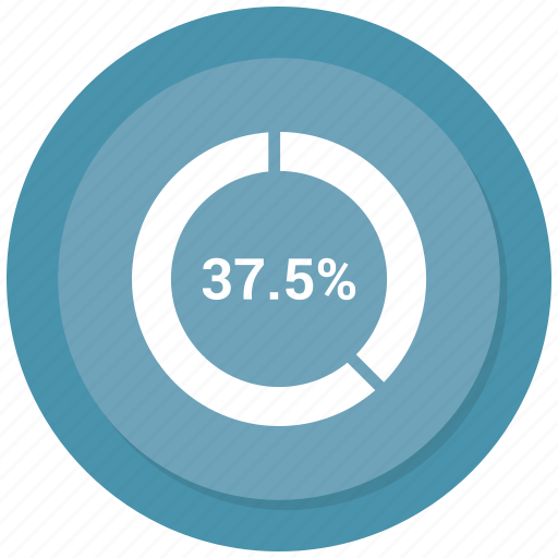 pie chart, seven, thirty, thirty seven icon