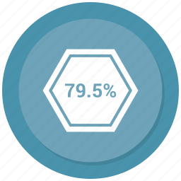 nine, percent, percentage, seventy icon