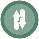 arrow, double, left, right icon