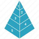 chart, pyramid, report, triangle icon