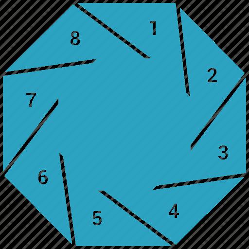 bar, graph, infographic, pie, pie chart, statistics icon