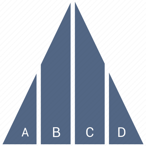 Report, pyramid, triangle, chart icon
