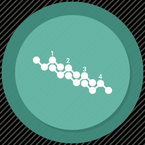 analytics, graph, infographic, line graph, presentation icon