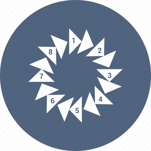 analytics, business, floral, graphic chart, infographic, pattern, pie chart icon