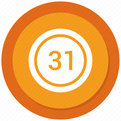 chart, count, number, thirty one icon
