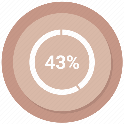 forty three, pie, pie chart icon