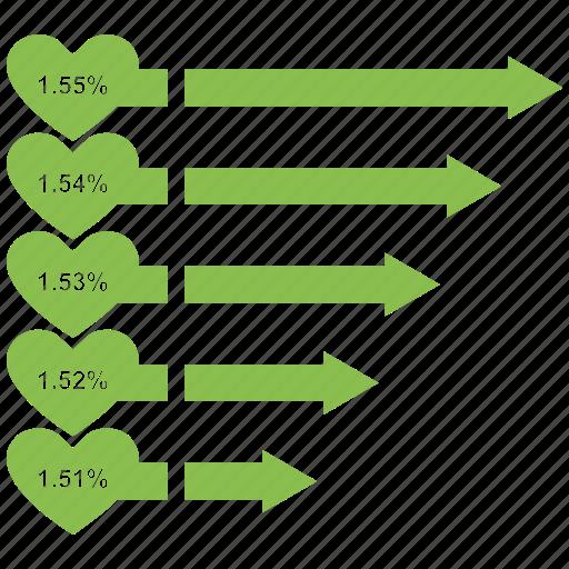 analytics, bar, chart, growth bar, infographic icon