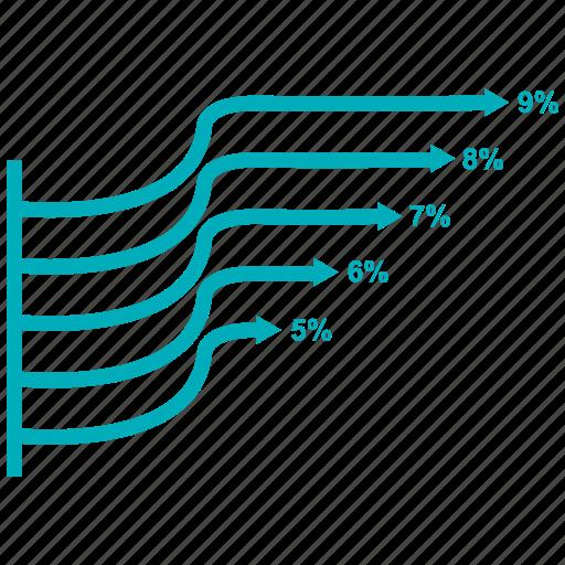 analytics, chart, growth bar, infographic, rising, statistics icon