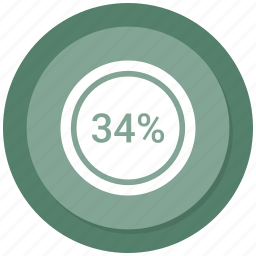 count, four, graphic, number, percent, thirty icon