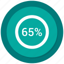 five, percent, percentage, sixty icon