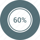 graphic, info, percent, sixty icon