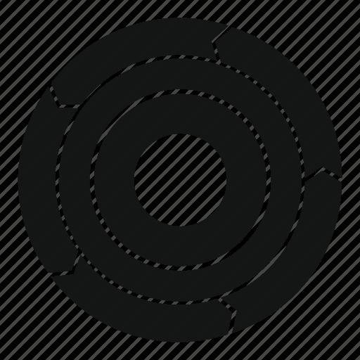 arrow, business, chart, manual, pie, statistics, web icon