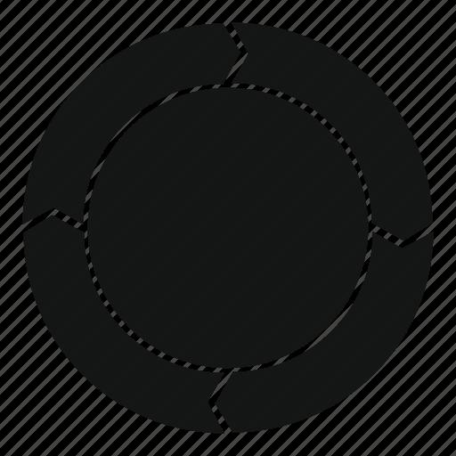 arrow, chart, diagram, manual, pie, statistics, web icon