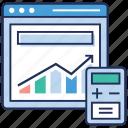 data analytics, data infographic, infographic element, statistics, web development, web statistics icon