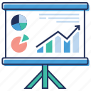 analytics, business analytics, charting application, graph presentation, statistics icon