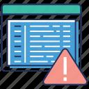 blocked website, web error, web page error, web problem, web troubleshooting icon