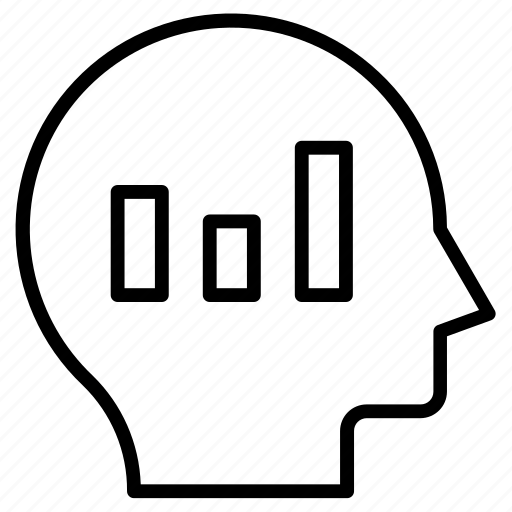 Head, statistics, bar, graph, chart icon - Download on Iconfinder
