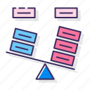 balance, descision, seasaw icon