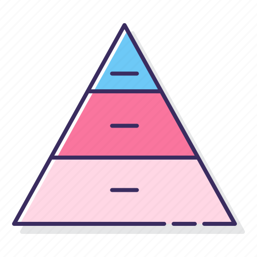basic, chart, pyramid icon