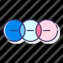 basic, diagram, venn icon