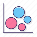 bubble, chart, diagram icon