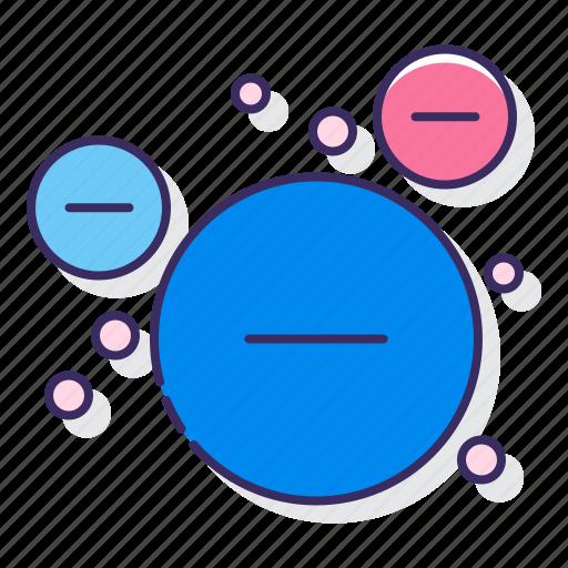 chart, circle, relationship icon