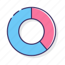 chart, doughnut, graph icon