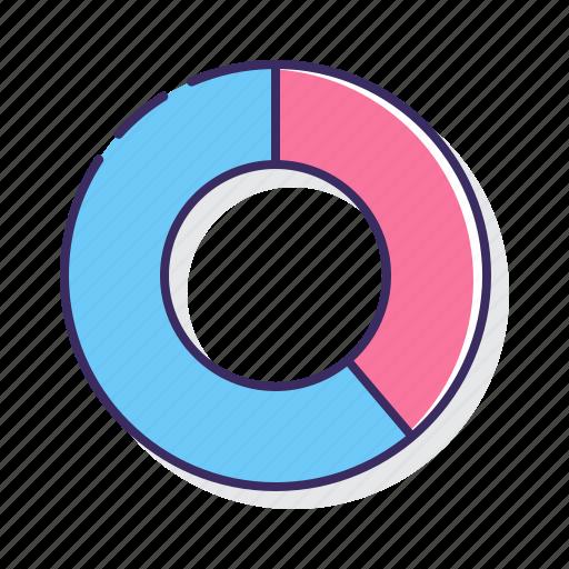 chart, doughnut, graph icon