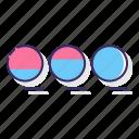 circle, increasing, process icon