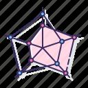 chart, marked, radar icon