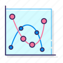 lines, marked, scatter, smooth icon