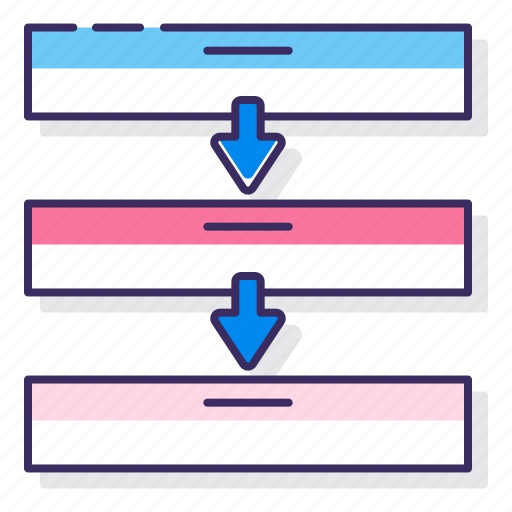 process, segmented, stacked icon