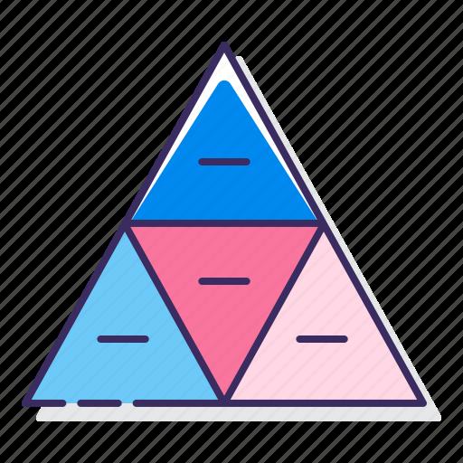 chart, pyramid, segmented icon