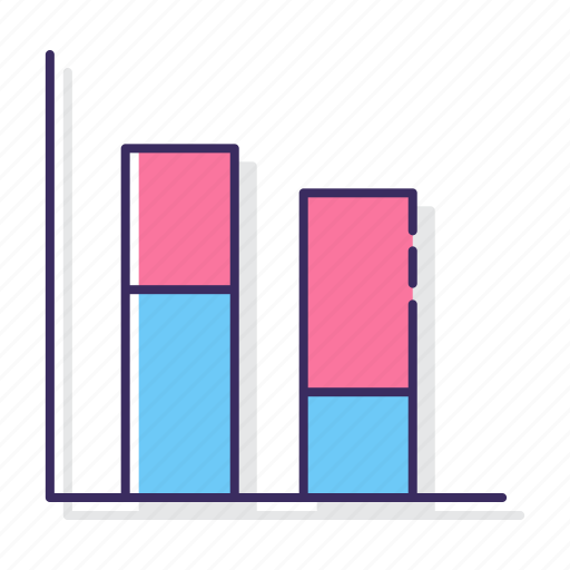 chart, column, stacked icon