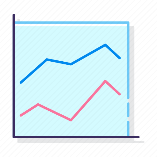 chart, line, stacked icon