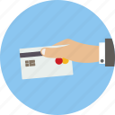 business card, hand icon icon