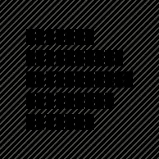 converging sound, equalizer, music, sound bar icon