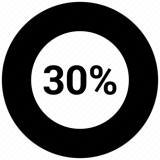 circle chart, circle graph, graph, infographic, percentage, thirty icon