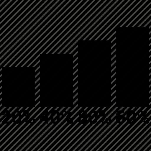 bar graph, chart, growth, increase, revenue, stock icon