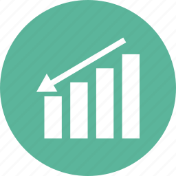 analytics, chart, down market, finance, graph, growth, sales icon
