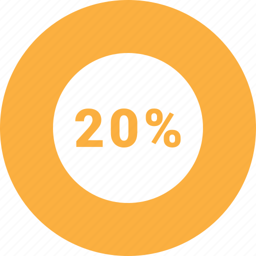 info, infromation, percent, twenty icon