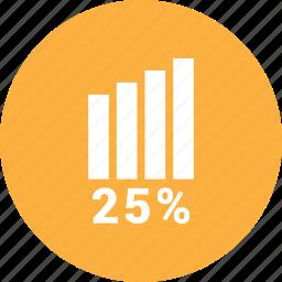 analytics, graph, report, statistics, twenty five icon